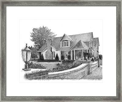 Mr.  Mrs. C's House Framed Print