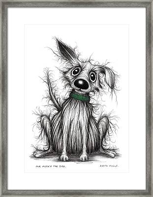 Mr Mucky The Dog Framed Print by Keith Mills
