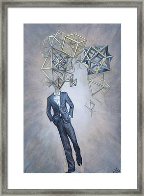 Mr. Octahedron Iteration 1 Framed Print