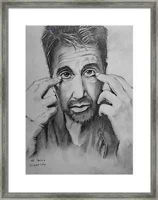 Mr. Pacino Framed Print by Ted Castor