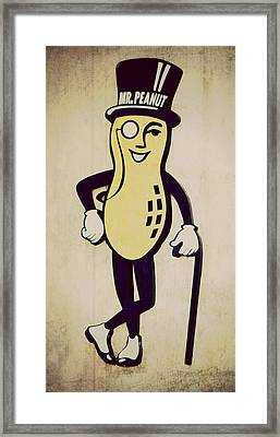 Mr Peanut Framed Print