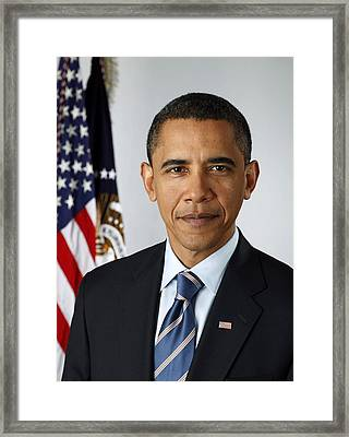 Mr. President Framed Print by Blue Doves