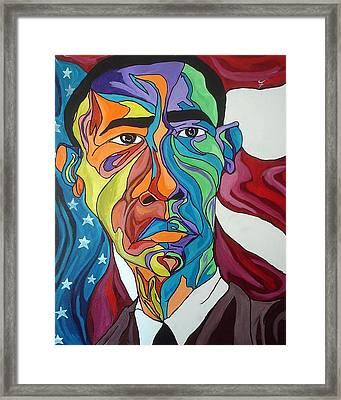Mr. President Framed Print by JaFleu