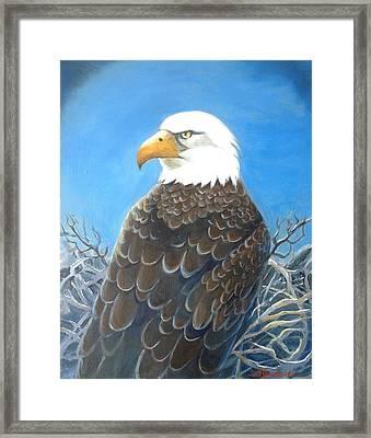 Mr. President Framed Print by Marilyn Jacobson
