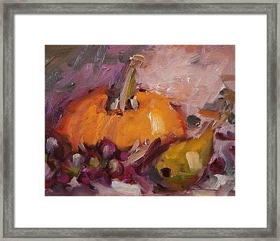 Mr. Pumpkin And His Buddies Framed Print by R W Goetting