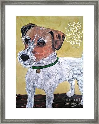 Mr. R. Terrier Framed Print