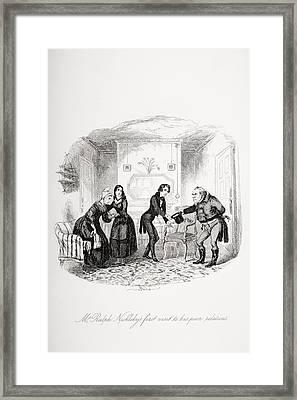 Mr. Ralph Nicklebys First Visit To His Framed Print