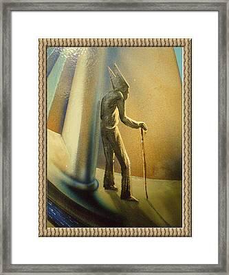 Mr Religion Grows Old Framed Print by Joe Santana