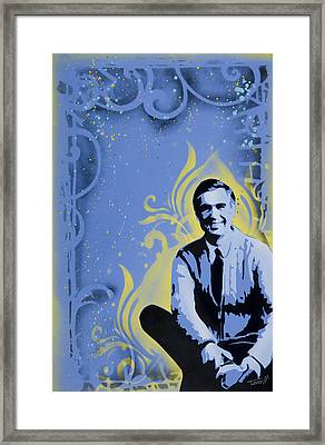 Mr. Rogers Framed Print by Tai Taeoalii
