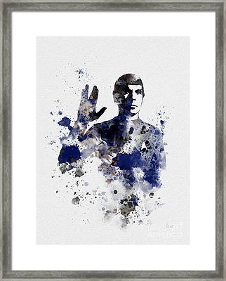 Mr Spock Framed Print by Rebecca Jenkins