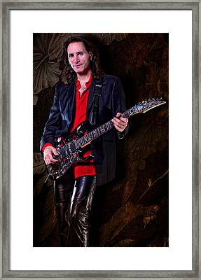 Mr. Steve Vai Framed Print by Robert Jamason