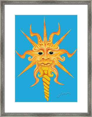 Framed Print featuring the digital art Mr. Sunface by Thomas Lupari