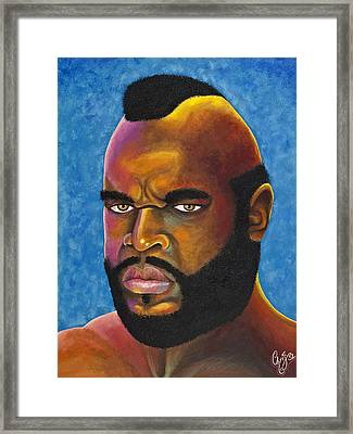 Mr. T Got Robbed Fool Framed Print by Chris  Fifty-one