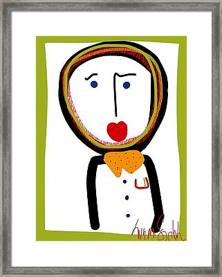 Mr. Tidy Boy Framed Print
