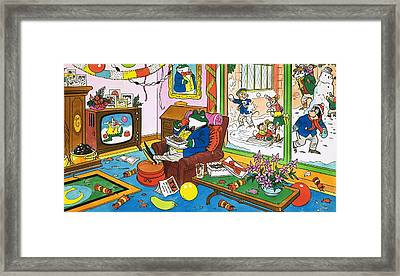 Mr Toad Watching Television Framed Print by English School
