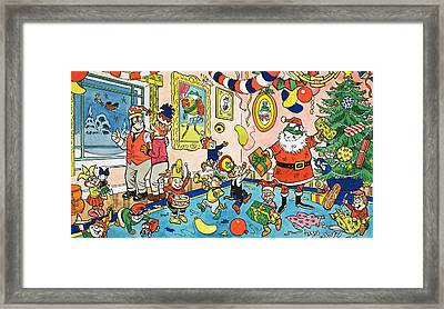 Mr Toads Christmas Party Framed Print by English School
