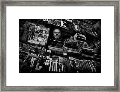 Mr. Valentino Framed Print by Antonio Grambone