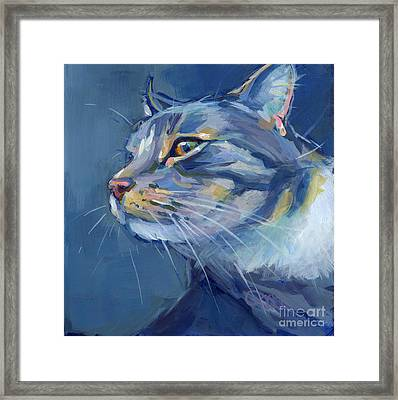 Mr. Waffles Framed Print by Kimberly Santini