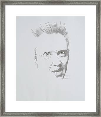 Framed Print featuring the mixed media Mr. Walken by TortureLord Art
