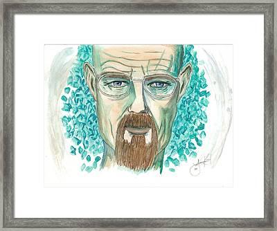Mr. White Framed Print by Lauri Kent