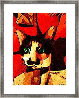 Framed Print featuring the photograph Mr. Wiggins by Iowan Stone-Flowers