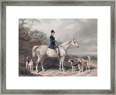 Mr William Long On Bertha Framed Print by W and H Barraud