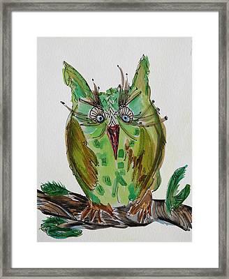Mr.lime Owl Framed Print