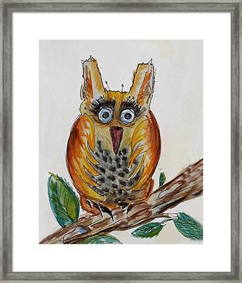 Mr.orange Owl Framed Print