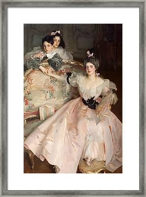 Mrs Carl Meyer And Her Children Framed Print by John Singer Sargent