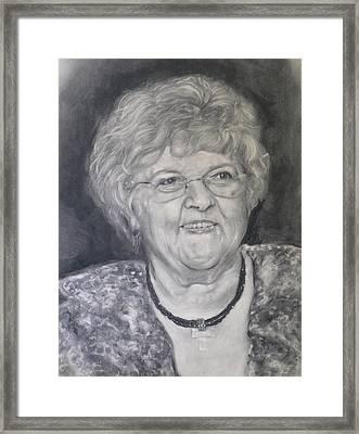 Mrs. Carol Paul Framed Print by Adrienne Martino