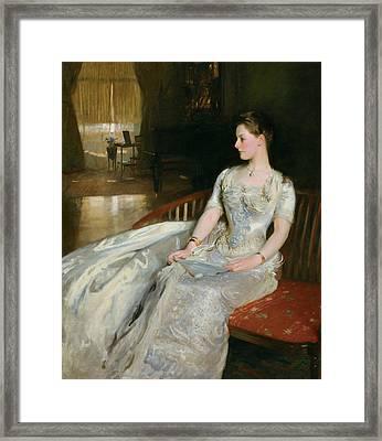 Mrs Cecil Wade Framed Print by John Singer Sargent