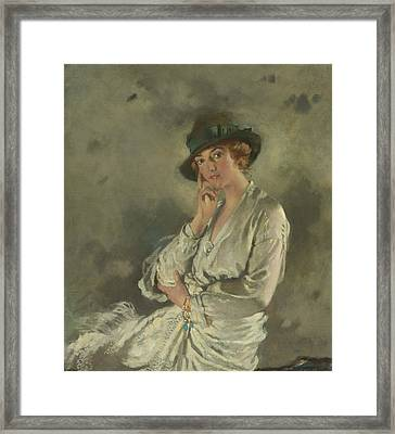 Mrs. Charles S. Carstairs Framed Print by William Orpen