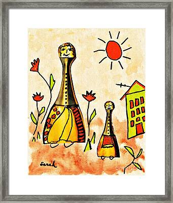 Mrs Cologne And Her Daughter Framed Print