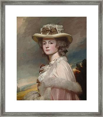Mrs Davies Davenport Framed Print by George Romney