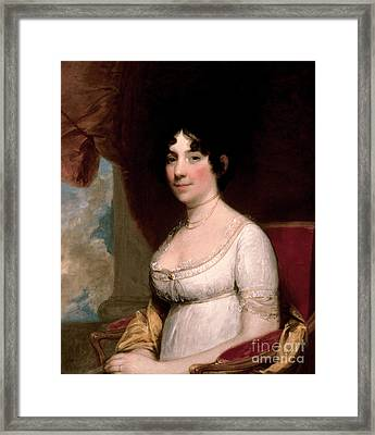 Mrs Dolley Madison, 1804 Framed Print