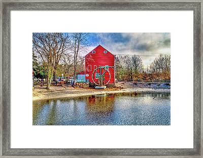 Smithville New Jersey Gristmill  Framed Print by Geraldine Scull