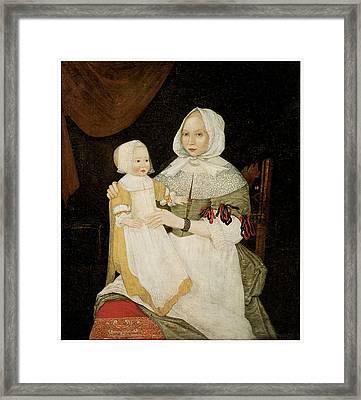 Mrs. Elizabeth Freake And Baby Mary Framed Print