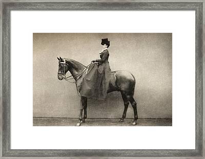 Mrs. Emily Monroe Dickinson 1841 -1918 Framed Print