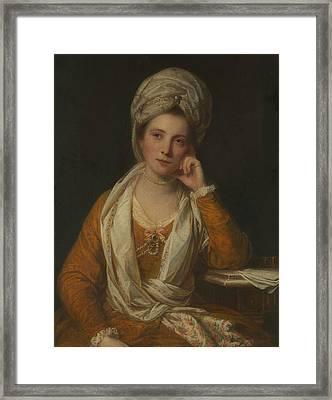 Mrs. Horton, Later Viscountess Maynard Framed Print by Joshua Reynolds