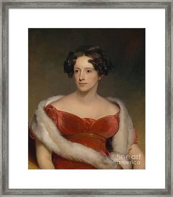 Mrs. John Biddle - Eliza Falconer Bradish Framed Print