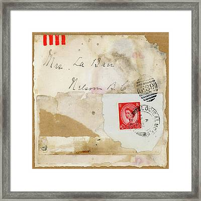 Mrs. Laban Collage Framed Print by Carol Leigh