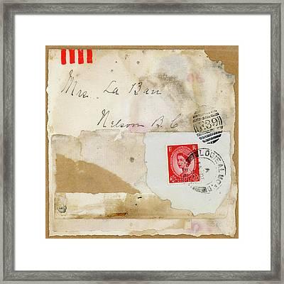 Mrs. Laban Collage Framed Print