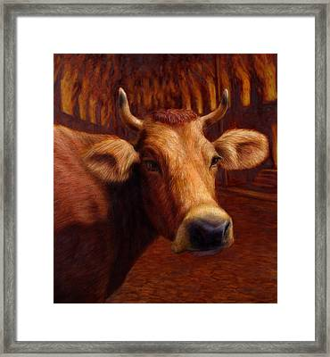Mrs. O'leary's Cow Framed Print by James W Johnson