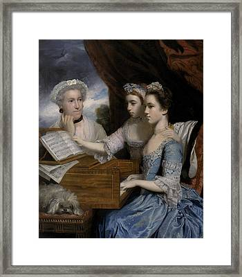 Mrs Paine And The Misses Paine Framed Print by Sir Joshua Reynolds