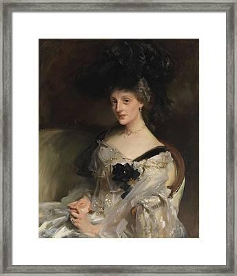 Mrs Philip Leslie Agnew Framed Print by John Singer