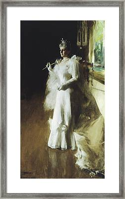 Mrs Potter Palmer Framed Print by Anders Leonard Zorn