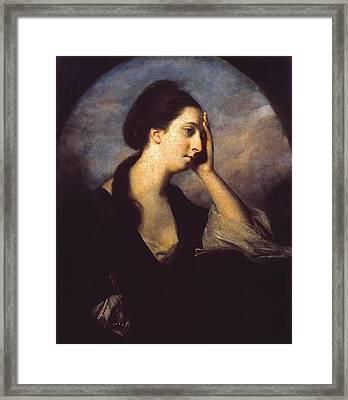 Mrs Richard Cumberland Framed Print by Joshua Reynolds