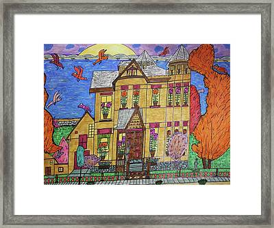 Mrs. Robert Stephenson Home. Framed Print