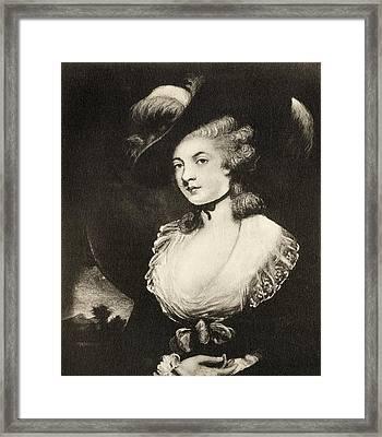 Mrs Robinson After Sir Joshua Reynolds Framed Print by Vintage Design Pics