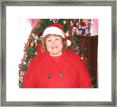 Mrs Santa Granny Jan Framed Print